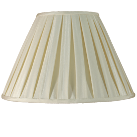 """8"""" Box Pleat Ivory Lamp Shade"""