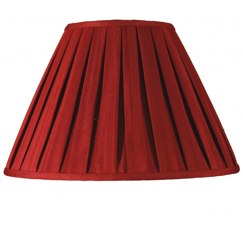 "14"" Box Pleat Wine Lamp Shade"