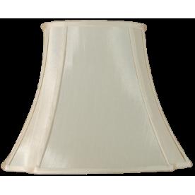 "10"" Oval Cut Corner Ivory Lamp Shade"