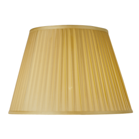 """20"""" Pleated Empire Champagne Lamp Shade"""