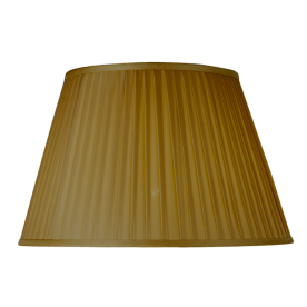 "Pleated Empire 16"" Gold Lamp Shade"