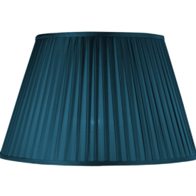 """Pleated Empire 10"""" Teal Lamp  Shade"""
