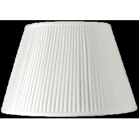 "20"" Pleated Empire White Lamp Shade"