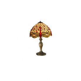 "Beige Dragonfly 8""Tiffany Table Lamp"