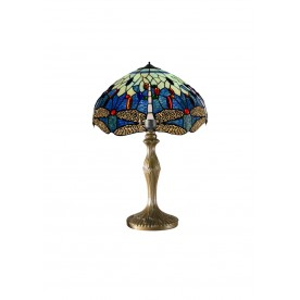 "Blue Dragonfly 12"" Tiffany Table Lamp"