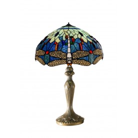 "Blue Dragonfly 16"" Tiffany Table Lamp"