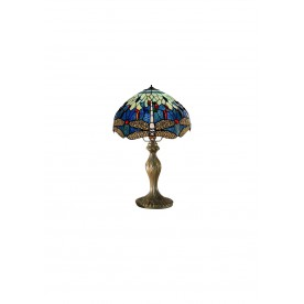 "Blue Dragonfly 8"" Tiffany Table Lamp"