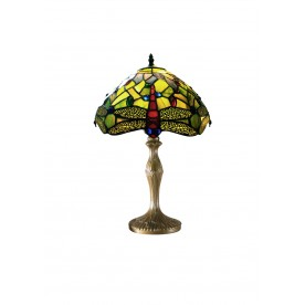 "Green Dragonfly 12"" Tiffany Table Lamp"