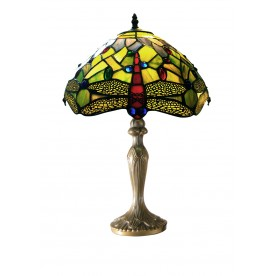 "Green Dragonfly 16"" Tiffany Table Lamp"