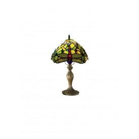 "Green Dragonfly 8"" Tiffany Table Lamp"