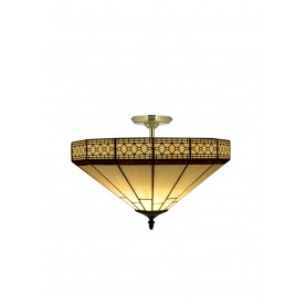 "Hartford Tiffany 16"" Semi Flush"