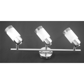 Detroit 3 Light Bar - Satin Nickel