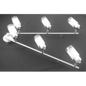 Detroit 6 Light Bar - Satin Nickel