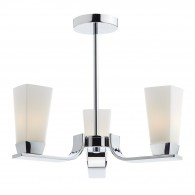 Director 3 Light Semi Flush - Polished Chrome