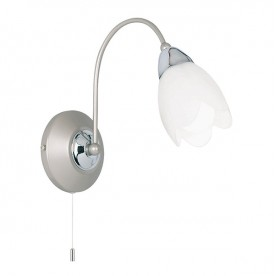 Flurette Wall 1 Light - Satin Nickel
