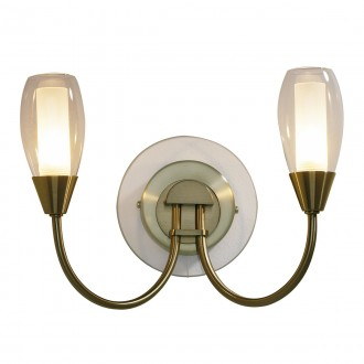 Tempo 2 Wall Light - Antique Brass