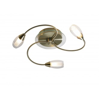 Tempo 3 Light Flush - Antique Brass