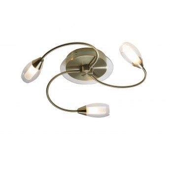 Tempo 3 Light Flush - Antique Brass