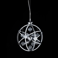 Pluto Pendant - 390mm - Chrome