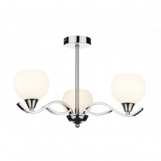 Aruba 3 Light Semi Flush - Polished Chrome