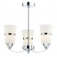 Dublin 3 Light Semi Flush - Polished Chrome