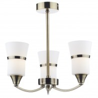 Dublin 3 Light Semi Flush - Antique Brass