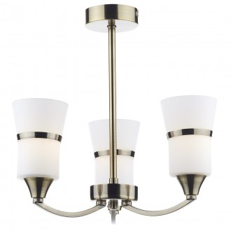 Dublin 3 Light Semi Flush - Antique Brass