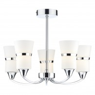 Dublin 5 Light Semi Flush - Polished Chrome