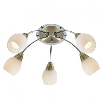 Tempo 5 Light Flush Round - Polished Chrome & Satin Brass