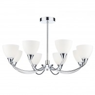 Watson 8 Light Semi Flush - Polished Chrome