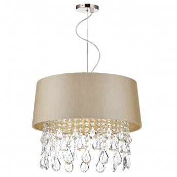 Geraldine 1 Light Pendant Taupe