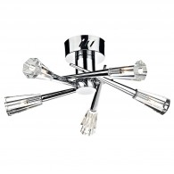 Nimrod 5 Light Semi Flush - Polished Chrome