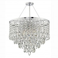Pescara 5 Light Round Pendant - Decorative Crystal