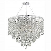 Pescara 5 Light Round Pendant - Decorative Crystal