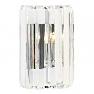 Sketch 1 Light Crystal Wall Bracket - Polished Chrome