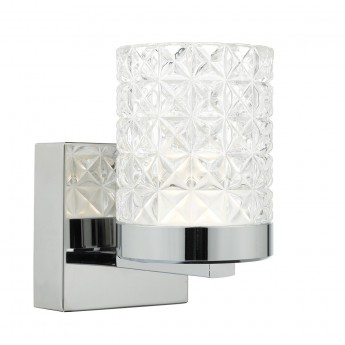 Victoria Wall Light - Polished Nickel Decorative Glass Shade