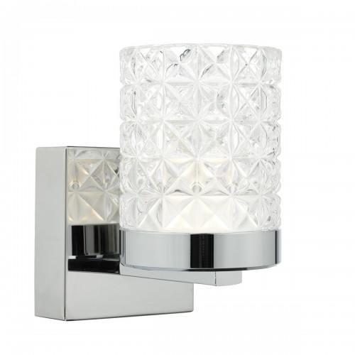 Victoria Wall Light - Polished Nickel Decorative Glass Shade