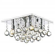 Abacus 4 Light 300mm - Square Flush Polished Chrome