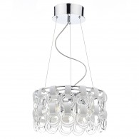 Hoop 9 Light Pendant - Polished Chrome/ White/ Clear