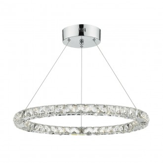 Roma LED Pendant - Crystal with Chrome - Small
