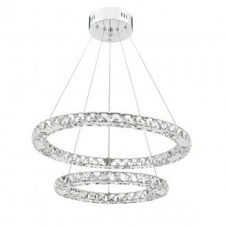 Roma LED Pendant - Crystal with Chrome - Large