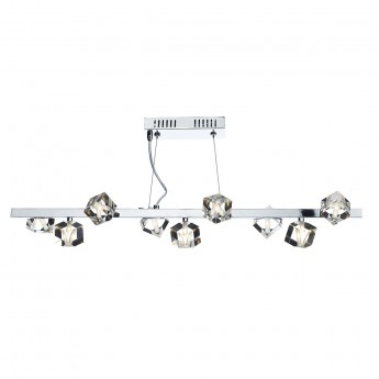 Union 9 Light Bar Pendant - Polished Chrome