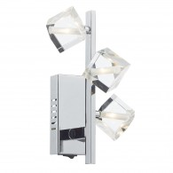 Union 3 Light Wall Bracket - Polished Chrome