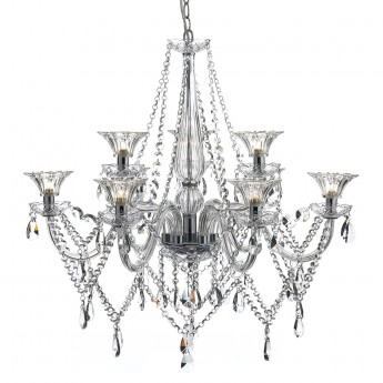 Emma 9 Light Chandelier - Polished Chrome / Clear