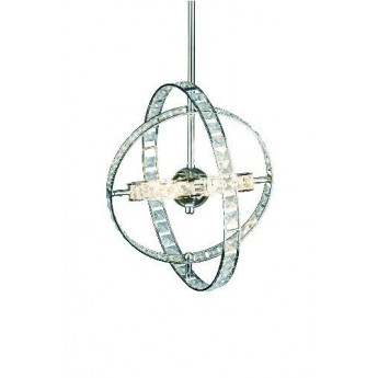 Eternity 6 Light Pendant - Polished Chrome - Shortened Rod