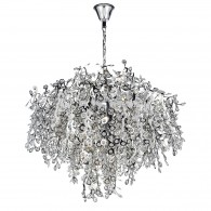 Konstantina 13 Light Luxury - Polished Chrome and Crystal Bead