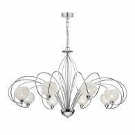 Rafferty 8 Light Pendant Dual Mount - Polished Chrome