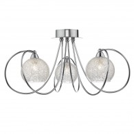 Rafferty 3 Light Semi Flush - Polished Chrome