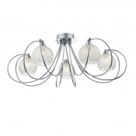 Rafferty 5 Light Semi Flush - Polished Chrome