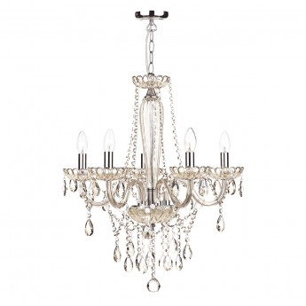 Raphael 5 Light Chandelier - Champagne Crystal